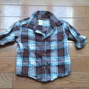 5/$10 Carter's toddler boy plaid button down